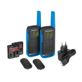 Motorola TALKABOUT T62 PMR446, Blue Twin Pack WE
